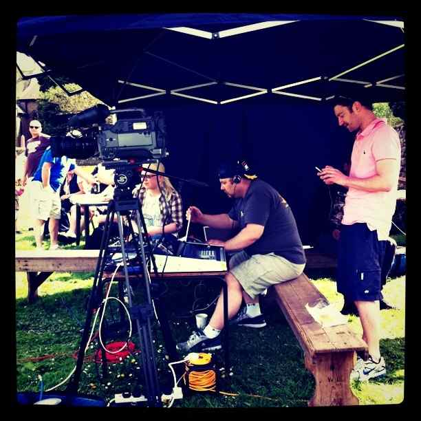 Event With Me and Aquila TV at twicket, Wray. Julia Higginbottom, 2011.
